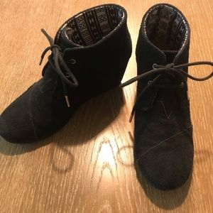 Toms Desert Wedge Lace up Bootie